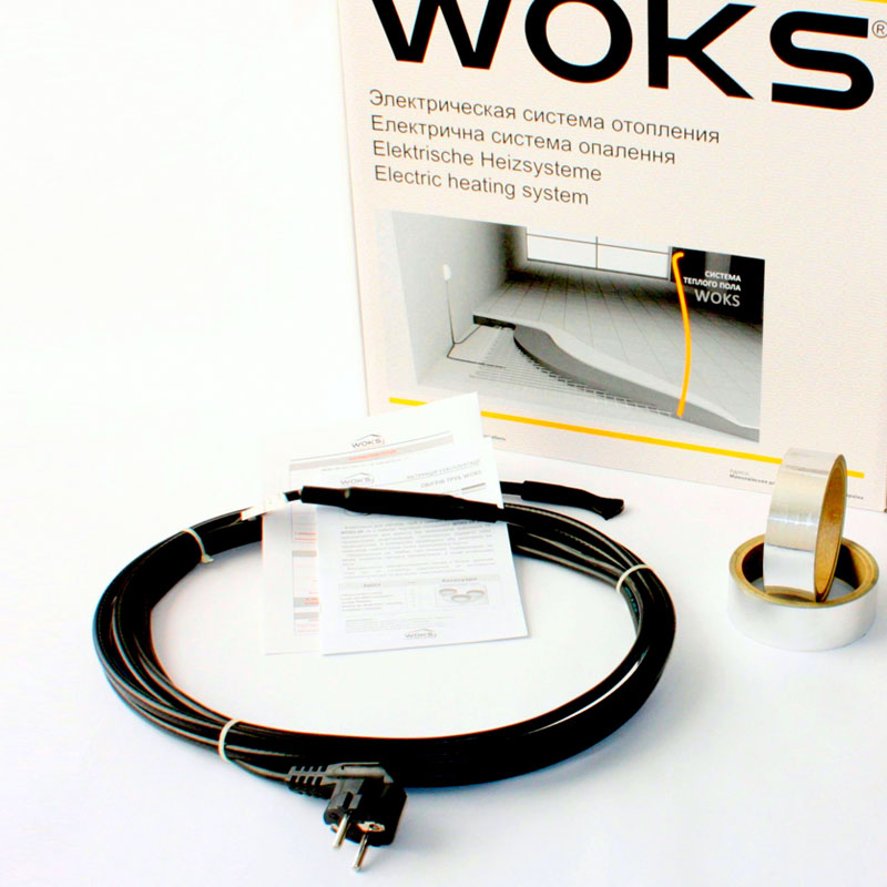 Комплект для обогрева труб Woks SR 10, 55 м
