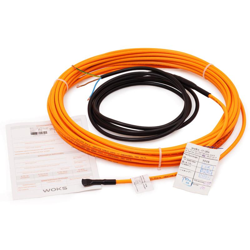 Нагревательный кабель Woks 17, 135 Вт, 8,5 м